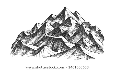 summit of mountain landscape ink texture vector stock photo © pikepicture