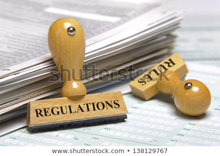 Compliance Marked On Rubber Stamp Stock photo © AndreyPopov