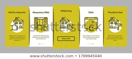 building house sale vector onboarding stock photo © pikepicture
