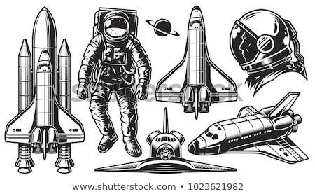 Space Exploring Ship Shuttle Monochrome Vector Stock photo © pikepicture