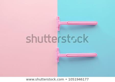 Meisje scheermes illustratie vrouwen benen Stockfoto © adrenalina