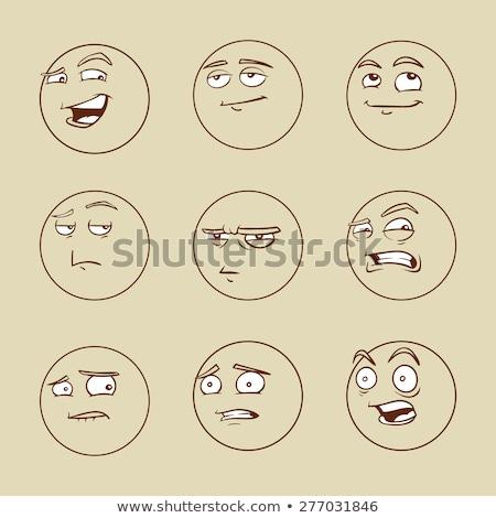 Mosoly rajz férfi arc illusztráció arckifejezés Stock fotó © robuart