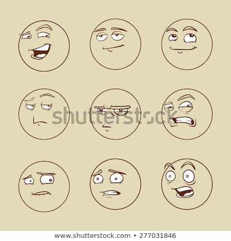 Glimlach cartoon man gezicht illustratie Stockfoto © robuart