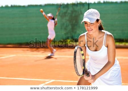 Mulher tênis dobrar fitness trem Foto stock © Kzenon