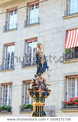 Fountain of Justice in the Old City of Bern, Switzerland Stock photo © boggy