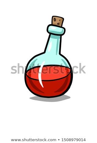Stock photo: Bubbled Potion Liquid Bottle Color Vector