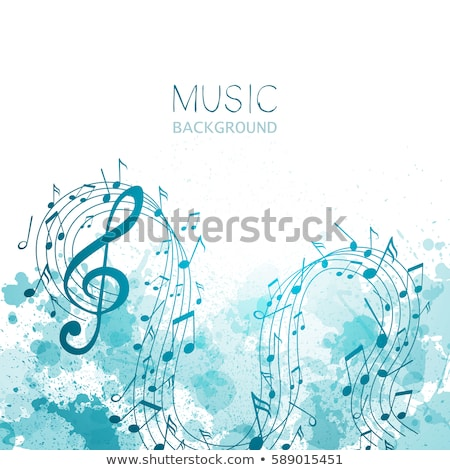 abstract watercolor music background with notes symbols Stock photo © SArts