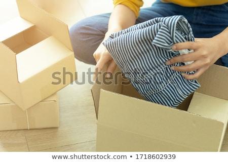 Foto stock: Envío · ropa · tienda · algo · de · moda