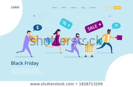 スーパー 販売 割引 人 ショッピングバッグ ストックフォト © robuart