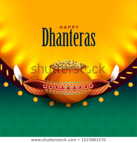 beautiful happy dhanteras background with light effect Stock photo © SArts