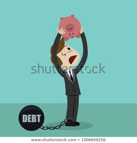 Hands Piggy Bank Upside Down Empty Illustration Stock photo © lenm