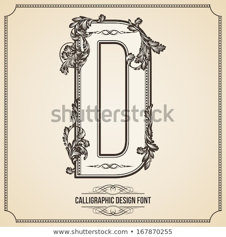 Vector collection of calligraphic design elements and page decoration Stock photo © blue-pen