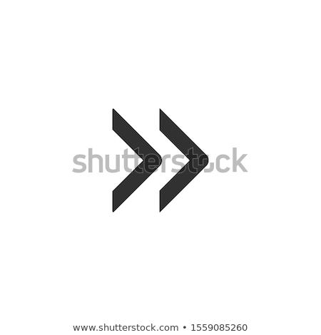 Two chevron arrows right. Stock Vector illustration isolated on white background. Stock photo © kyryloff