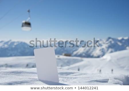 Sci biglietto neve montagna sport natura Foto d'archivio © AndreyPopov