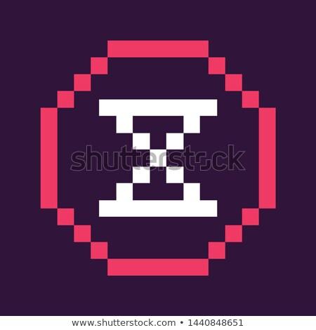 Clock Denoting Time, Pixel Icon of Retro Game Stock photo © robuart