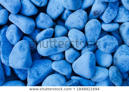 Dark blue stone pebbles as abstract background texture, landscap Stock photo © Anneleven