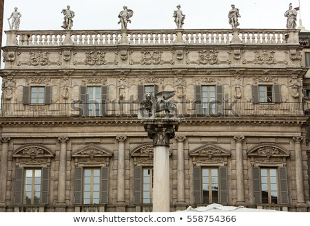 Palazzo Maffei with statue of divinitiy at Piazza delle Erbe in  Stock photo © boggy