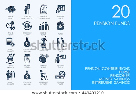 Pension Retirement Collection Icons Set Vector Stock photo © pikepicture