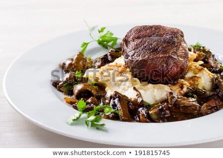 Baharatlı et mantar sos fırın Stok fotoğraf © Dar1930