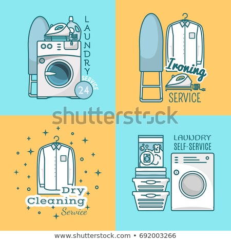 Dry cleaning service emblem, laundry self-service icon, clothes  Stock photo © gomixer