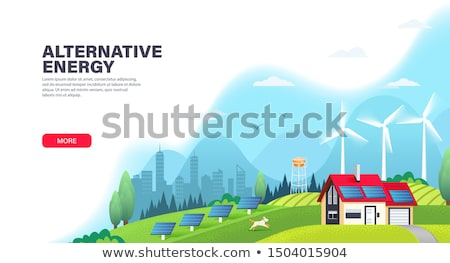 energia · aterrissagem · página · energia · renovável · planta - foto stock © RAStudio