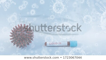 coronavirus covid-19 cells floating in air background Stock photo © SArts