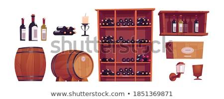 набор коробки белый иллюстрация древесины фон Сток-фото © bluering