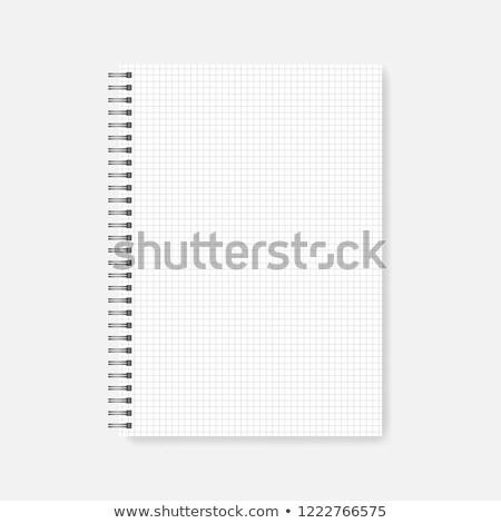 Fekete nyitva valósághű spirál jegyzettömb vázlat Stock fotó © evgeny89