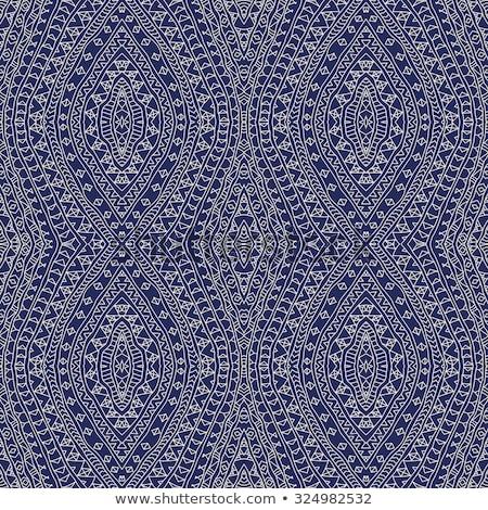 Vector geometric ondulat in dungi ornament Imagine de stoc © samolevsky