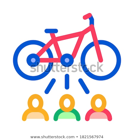 Een fiets icon vector schets illustratie Stockfoto © pikepicture