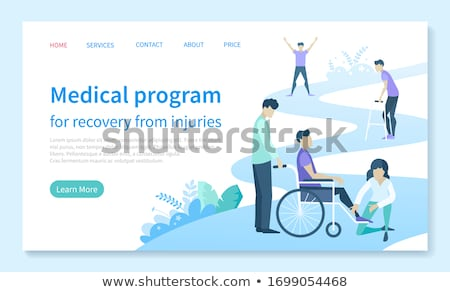 Injury Recovery Medical Program Web Landing Page Stock photo © robuart