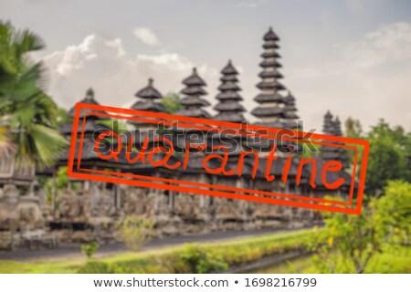 Quarantine due to coronavirus epidemic covid19 hindu temple Sri Mariamman Peng Island, Malaysia Stock photo © galitskaya