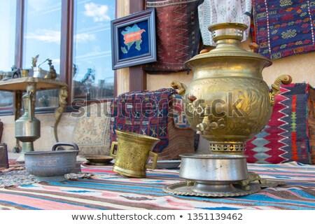 Russian brass samovar Stock photo © mayboro
