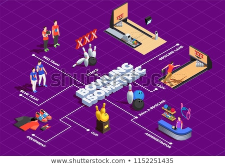 Player Throw Ball isometric icon vector illustration Stock photo © pikepicture
