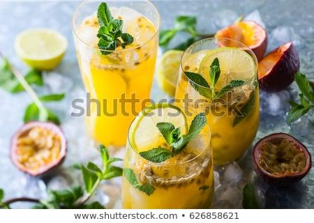 情熱 フルーツ カクテル ドリンク ガラス ジュース ストックフォト © mroz