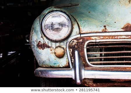 rusty classic car Stock photo © morrbyte