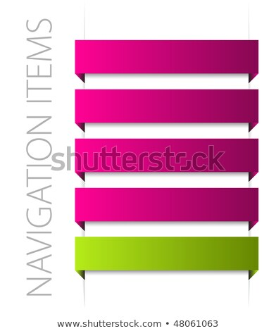 modern pink navigation items on white stock photo © orson