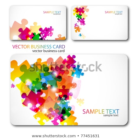 the art of business card collection play with rainbows stock photo © davidarts