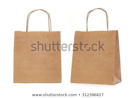 Ambalaj kâğıdı alışveriş çantası beyaz Stok fotoğraf © devon