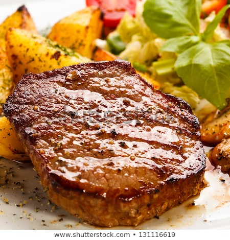 salad with sirloin chicken Stock photo © fanfo