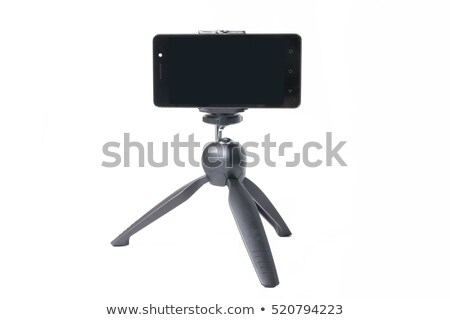 Camcorder on a small tripod Stock photo © borysshevchuk