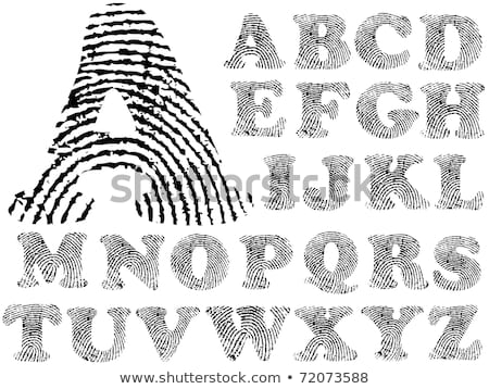 Vinger print alfabet ontwerp verf teken Stockfoto © ojal
