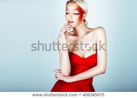 mulher · perfurante · olhos - foto stock © tobkatrina