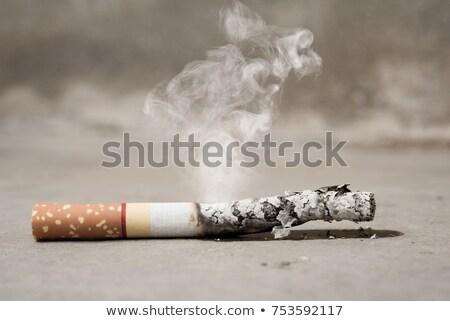 Cigarette on a concrete floor Stock photo © Spectral
