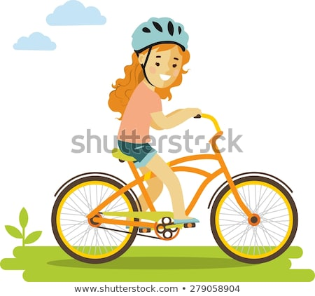 Girl cycling in park Stock photo © photography33