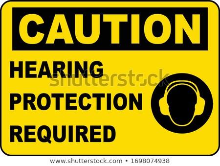 ストックフォト: Hearing Protection Required