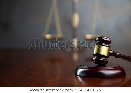 Wooden gavel reflected Stock photo © broker