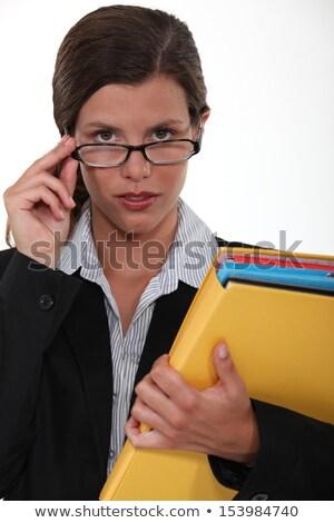 brilliant female executive holding files Stock photo © photography33