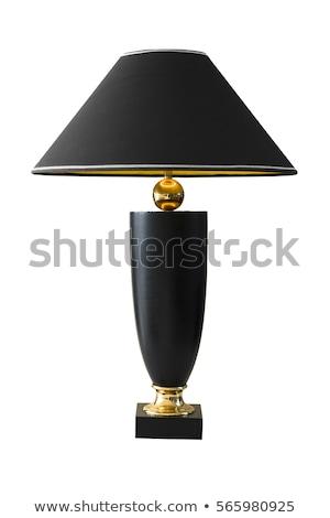 tablo · masa · örtüsü · spot · ışık · lamba - stok fotoğraf © perysty