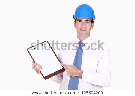 Surveyor pointing to his clipboard Stock photo © photography33